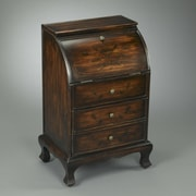 AA Importing 2 Drawer Round Top Wooden Cabinet