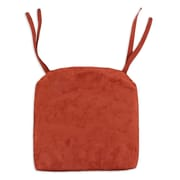 Brite Ideas Living Passion Suede Foam Seat Cushion; Brick
