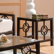 In Style Furnishings Medallion End Table; Deep Bronze