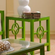 In Style Furnishings Medallion End Table; Green