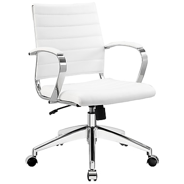 Modway Jive Mid-Back Adjustable Office Chair; White