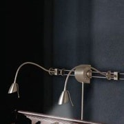 Dainolite Adjustable Reading Over the Bed Gooseneck Wall Lamp; Satin Chrome