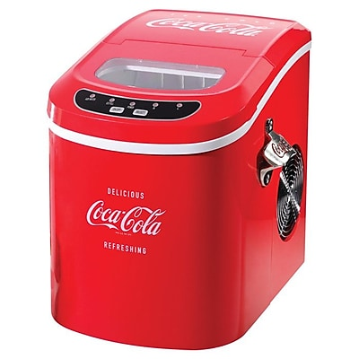 Nostalgia Electrics Coca Cola Series 9.5 W Portable Ice Maker