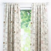 Brite Ideas Living Postale Cotton Tab Top Single Curtain Panel; 96'' H