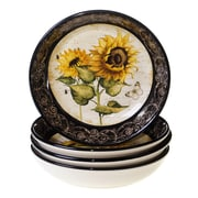 Certified International French Sunflowers Soup / Pasta Bowl (Set of 4)