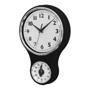 New Haven Retro Kitchen Wall Clock; Black