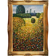 Tori Home Field of Poppies by Klimt Framed Hand Painted Oil on Canvas