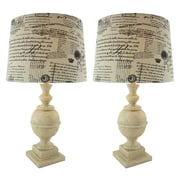 Aspire Athena 28'' H Table Lamp with Empire Shade (Set of 2)