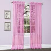 Lush Decor Lola Window Curtain Panels (Set of 2); Hot Pink
