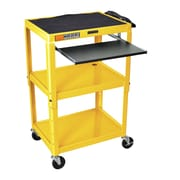 Luxor Compact Steel Mobile Computer Workstation; Yellow