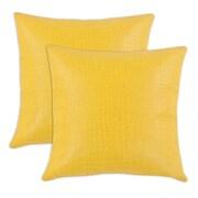 Brite Ideas Living Glade Runner KE Throw Pillow (Set of 2); Yellow