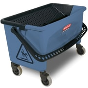 Rubbermaid Commercial Products 27 Gallon Microfiber Finish Bucket in Blue