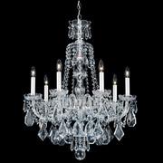 Schonbek Hamilton 7-Light Crystal Chandelier; Silver / Clear