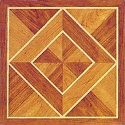 Home Dynamix 12'' x 12'' Luxury Vinyl Tile in Light / Dark Wood Diamond