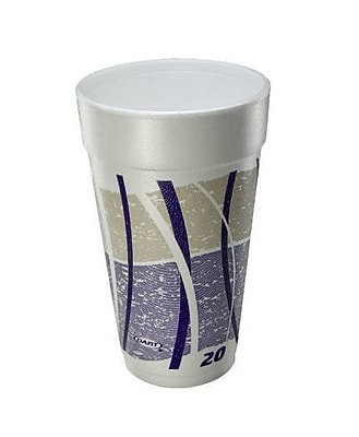 Dart Container Corp. 20 Oz Printed Impulse Foam Hot / Cold Drinking Cups (Set of 25) WYF078277504152