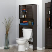 RiverRidge Home Products Ellsworth 27.36'' x 63.75'' Over the Toilet Cabinet; Espresso