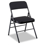 Bridgeport  Fabric Padded Seat/Back Low-Back Folding Office Chair (Set of 4); Black