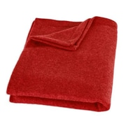 Brite Ideas Living Top Stitched Throw; Red