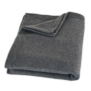 Brite Ideas Living Top Stitched Throw; Charcoal