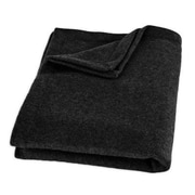 Brite Ideas Living Top Stitched Throw; Black