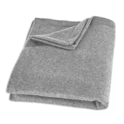 Brite Ideas Living Top Stitched Throw; Gray