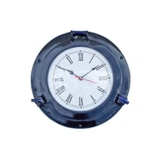 Handcrafted Nautical Decor Deluxe Class 12'' Porthole Wall Clock