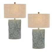 EC World Imports Urban Designs 28'' H Table Lamp with Drum Shade (Set of 2)