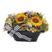 Urban Florals French Sunflower Table Top Wreath
