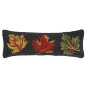 Peking Handicraft INC. Fall Leaves Hook Wool Throw Pillow