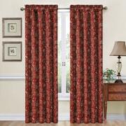 Traditions by Waverly Navarra Single Curtain Panel; Crimson