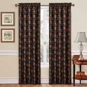 Traditions by Waverly Navarra Single Curtain Panel; Onyx