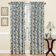 Traditions by Waverly Navarra Single Curtain Panel; Porcelain