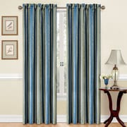 Traditions by Waverly Stripe Ensemble Single Curtain Panel; Porcelain