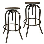 !nspire Industrial Adjustable Height Swivel Bar Stool (Set of 2)
