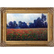 Tori Home Poppies at Giverny by Claude Monet Framed Painting Print