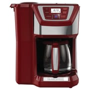 Black & Decker 12 Cup Mill and Brew Coffee Maker; Red