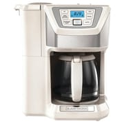 Black & Decker 12 Cup Mill and Brew Coffee Maker; White