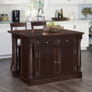 Home Styles Monarch Kitchen Island Set; Cherry