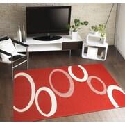 Garland Rug SoHo Area Rug; Crimson Red/Ivory