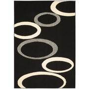 Garland Rug SoHo Hand-Tufted Black/Ivory Area Rug