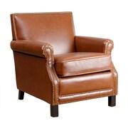 Abbyson Living Kennedy Antique Club Chair; Red