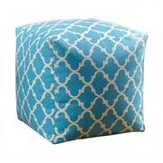 Abbyson Living Serena Moroccan Pouf Ottoman; Light Blue