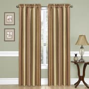 Traditions by Waverly Stripe Ensemble Single Curtain Panel; Antique