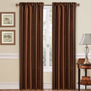 Traditions by Waverly Stripe Ensemble Single Curtain Panel; Onyx
