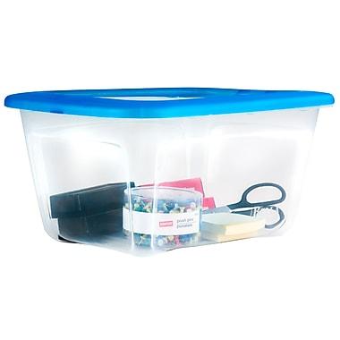 StaplesMD – Bac de rangement en plastique, 13,2 l, transparent
