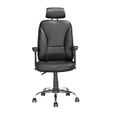 CorLiving LOF-609-O Workspace Executive Tilting Office Chair, Black Leatherette