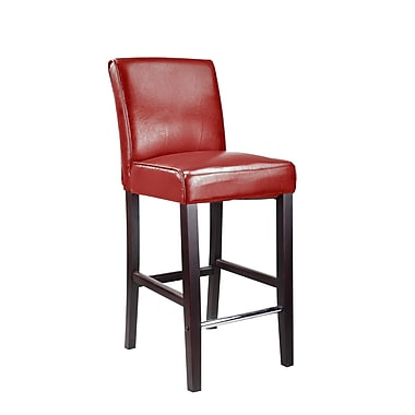CorLiving™ DAD-553-B Antonio Bar Height Barstool, Red Bonded Leather
