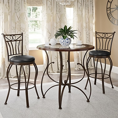 CorLiving™ DJS-923-Z2 Jericho 3-Piece Counter Height Barstool and Bistro Table Set