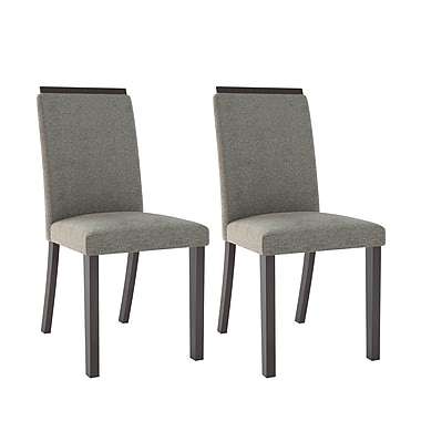 CorLiving™ DPP-191-C Bistro Pewter Grey Dining Chairs, Set of 2