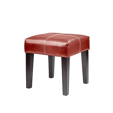 CorLivingMC – Banc carré de 16 po Antonio LAD-259-O, cuir reconstitué rouge